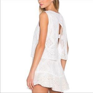 BCBG Maxazria Vivian White eyelets dress